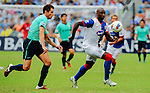 Jason Roberts of Blackburn Rovers and Fernando Recio Comi of Kitchee FC compete for the ball during the Asia Trophy pre-season friendly match at the Hong Kong Stadium on July 30, 2011 in So Kon Po, Hong Kong. Photo by Victor Fraile / The Power of Sport Images