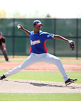 Carlos Melo, Texas Rangers 2010 minor league spring training..Photo by:  Bill Mitchell/Four Seam Images.