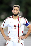 26 September 2014: Boston College's Giuliano Frano (CAN). The Duke University Blue Devils hosted the Boston College Eagles at Koskinen Stadium in Durham, North Carolina in a 2014 NCAA Division I Men's Soccer match. Duke won the game 1-0.
