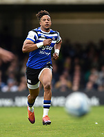 Anthony Watson of Bath Rugby chases after the ball. Gallagher Premiership match, between Bath Rugby and Wasps on May 5, 2019 at the Recreation Ground in Bath, England. Photo by: Patrick Khachfe / Onside Images