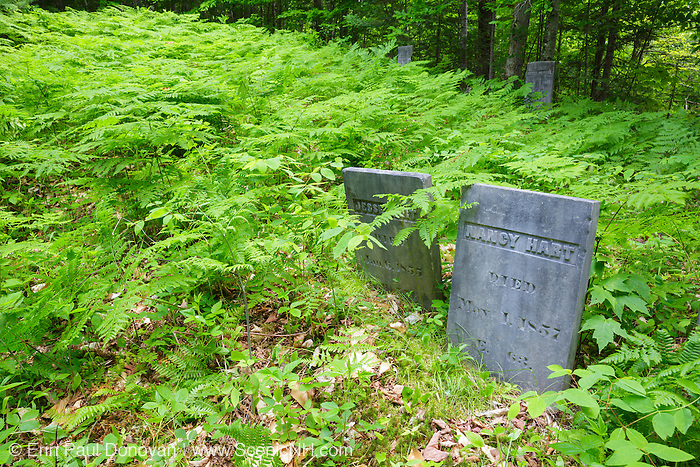 Graveyard at Thornton Gore in Thornton, New Hampshire. This was an old hill farm community that was abandoned during the 19th century.