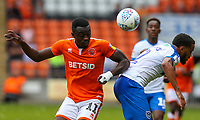 Blackpool's Joe Dodoo battles with Portsmouth's Anton Walkes<br /> <br /> Photographer Alex Dodd/CameraSport<br /> <br /> The EFL Sky Bet League One - Blackpool v Portsmouth - Saturday August 11th 2018 - Bloomfield Road - Blackpool<br /> <br /> World Copyright &copy; 2018 CameraSport. All rights reserved. 43 Linden Ave. Countesthorpe. Leicester. England. LE8 5PG - Tel: +44 (0) 116 277 4147 - admin@camerasport.com - www.camerasport.com