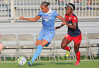 Boyds, MD - Saturday July 09, 2016: Samantha Johnson, Francisca Ordega during a regular season National Women's Soccer League (NWSL) match between the Washington Spirit and the Chicago Red Stars at Maureen Hendricks Field, Maryland SoccerPlex.