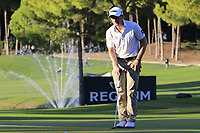 Paul Dunne (IRL) on the 17th green during Friday's Round 2 of the 2018 Turkish Airlines Open hosted by Regnum Carya Golf &amp; Spa Resort, Antalya, Turkey. 2nd November 2018.<br /> Picture: Eoin Clarke | Golffile<br /> <br /> <br /> All photos usage must carry mandatory copyright credit (&copy; Golffile | Eoin Clarke)