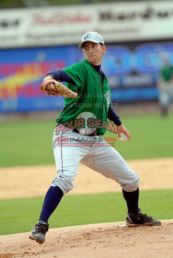 LHP Evan Bronson (29th round draft pick in 2009) of the Vermont Lake Monsters, the short season A (NY-P) affiliate of the Washington Nationals, at Edward LeLacheur Park in Lowell,MA (Photo by Ken Babbitt/Four Seam Images)