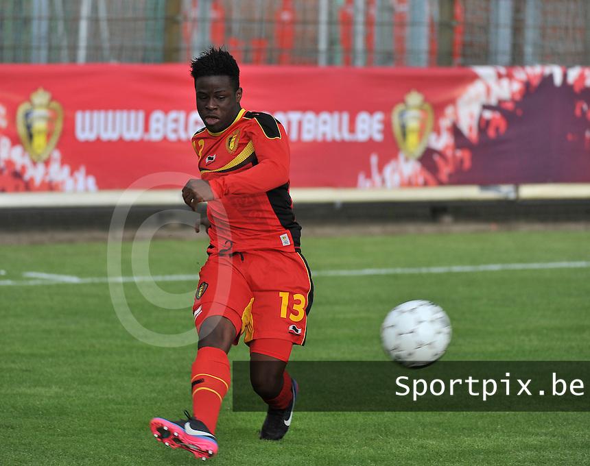 Scotland U19 - Belgium U19 : Jordan Kevin Atheba.foto DAVID CATRY / Nikonpro.be