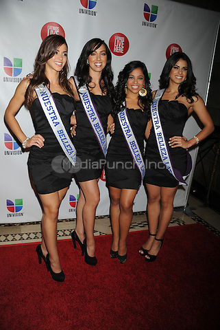 NEW YORK, NY - MAY 15: Nuestra Belleza Latins contestants attend the Univision Upfront 2012 reception at Cipriani 42nd Street on May 15, 2012 in New York City.. Credit: Dennis Van Tine/MediaPunch