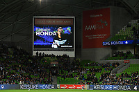 Melbourne, May 3, 2019 - Former Japanese International player Keisuke Honda (4) of Melbourne Victory at the Elimination Final of the A-League between Melbourne Victory and Wellington Phoenix at AAMI Park, Melbourne, Australia. Photo Sydney Low