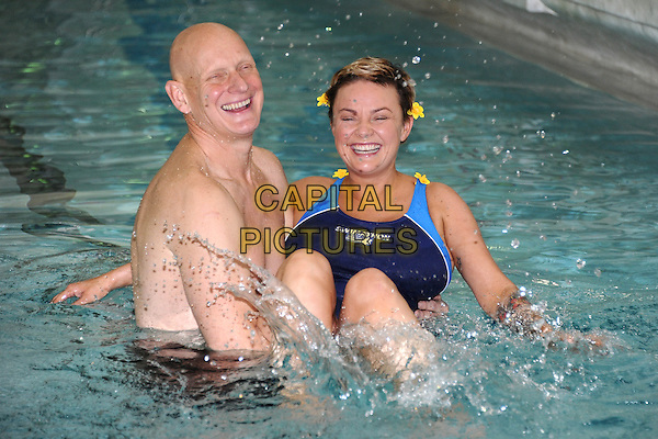 Tuesday, January 11, 2011<br /> Gail Porter and Duncan Goodhew at the Swimathon 2011 - launch photocall, Marshall Street Leisure Centre, London, England.<br /> CAP/CK<br /> &copy;CK/Capital Pictures