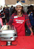 21 December 2018 - Los Angeles, California - Shar Jackson. Los Angeles Mission Christmas Meal for the Homeless held at Los Angeles Mission. Photo Credit: F. Sadou/AdMedia