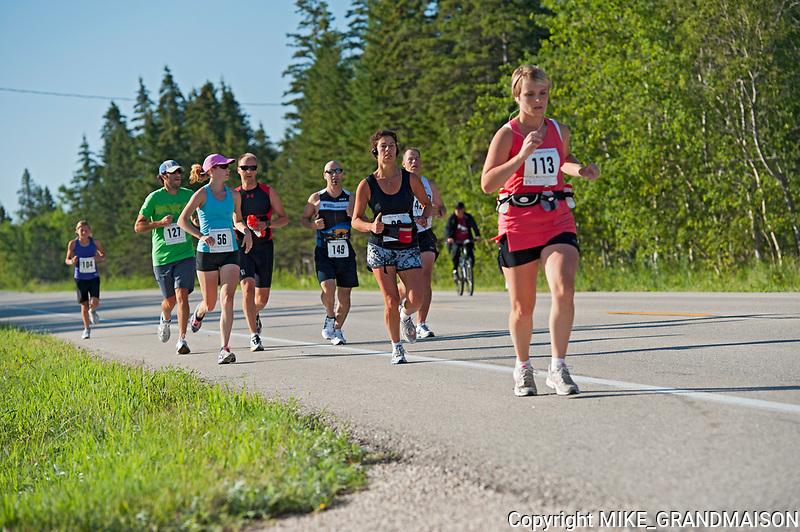 Marathon during the Icelandinc Festival<br />Gimli<br />Manitoba<br />Canada