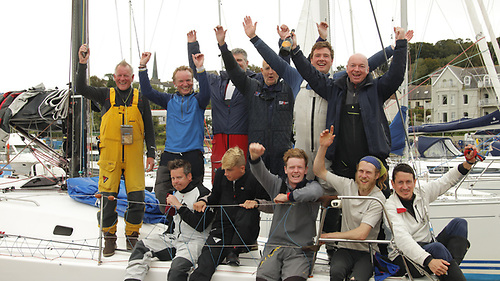 "Line honours winning team on ""Aurelia"" - Photo: North Sails Ireland"