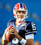 3 September 2009:  Buffalo Bills' quarterback Trent Edwards warms up prior to a pre-season game against the Detroit Lions at Ralph Wilson Stadium in Orchard Park, New York. The Lions defeated the Bills 17-6...Mandatory Photo Credit: Ed Wolfstein Photo