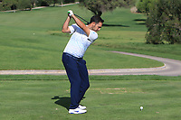 Nicolas Loprete (ESP) on the 10th tee during the Pro-Am of the Challenge Tour Grand Final 2019 at Club de Golf Alcanada, Port d'Alcúdia, Mallorca, Spain on Wednesday 6th November 2019.<br /> Picture:  Thos Caffrey / Golffile<br /> <br /> All photo usage must carry mandatory copyright credit (© Golffile | Thos Caffrey)