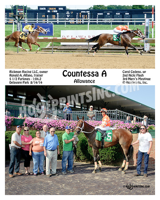 Countessa A winning at Delaware Park on 8/14/14