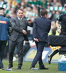15.04.2018 Celtic v Rangers scottish cup SF:<br /> Brendan Rodgers and Graeme Murty