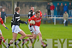 St Pat's Toma?s Greaney and Ardfert's Mike Wallace..   Copyright Kerry's Eye 2008