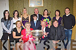 Kerry captain Darran O'Sullivan grandmother Sheila O'Shea who celebrated her 80th birthday with her family and friends in the Manor Inn Killorglin on Friday night front row l-r: Mary O'Sullivan, Sheila, Tim, Michael O'Shea. Back row: Stephanie, Lorranie O'Shea, Rachel O'Sullivan, Con O'Sullivan, Kevin O'Shea, Jennifer O'Sullivan and Darran O'Sullivan