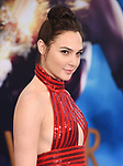 HOLLYWOOD, CA - MAY 25:  Actress Gal Gadot arrives at the premiere of Warner Bros. Pictures' 'Wonder Woman' at the Pantages Theatre on May 25, 2017 in Hollywood, California.