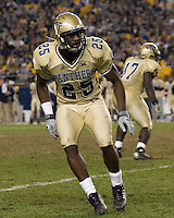 Pitt cornerback Darrelle Revis (25) was a first round draft choice of the New York Jets. The Louisville Cardinals defeated the Pitt Panthers 48-24 on November 25, 2006 at Heinz Field, Pittsburgh, Pennsylvania.