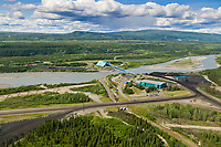Usibelli coal mining plant along the Nenana river, Healy, interior, Alaska.