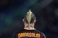 Calcio, Serie A:  Roma vs Palermo. Roma, stadio Olimpico, 21 febbraio 2016. <br /> Roma&rsquo;s Radja Nainggolan walks on the pitch during the Italian Serie A football match between Roma and Palermo at Rome's Olympic stadium, 21 February 2016.<br /> UPDATE IMAGES PRESS/Riccardo De Luca