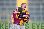 Duaghs Declan Griffin celebrates  winning in their Munster Junior Club Football final over Adrigole in Fitzgerald Stadium.