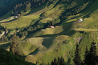 Austria, Vorarlberg, Warth: mountain farm at Hochtannberg passroad between Schroecken and Warth