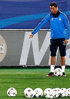 Real Madrid's forward Cristiano Ronaldo attends a practice session ahead of the Champions League round of 16 first leg football match against Roma, at Rome's Olympic stadium, 16 February 2016.<br /> UPDATE IMAGES PRESS/Riccardo De Luca