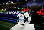 The adidas Official match ball before waits on the plinth before the Champions League Group C match at the Stamford Bridge, London. Picture date: December 5th 2017. Picture credit should read: David Klein/Sportimage