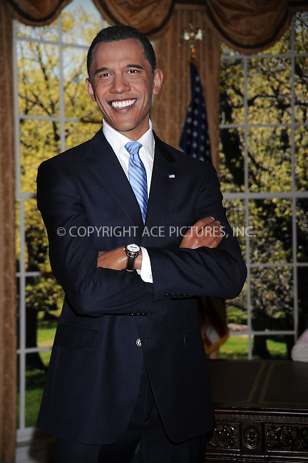 WWW.ACEPIXS.COM . . . . . ....January 15 2009, New York City....A wax figure of US President-elect Barack Obama was unvieled standing beside a replica of the Oval Office desk at Madame Tussauds in Times SquareJanuary 15, 2009 in New York City.....Please byline: KRISTIN CALLAHAN - ACEPIXS.COM.. . . . . . ..Ace Pictures, Inc:  ..tel: (212) 243 8787 or (646) 769 0430..e-mail: info@acepixs.com..web: http://www.acepixs.com
