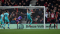 Newcastle United's Paul Dummett (centre) clears the ball aways from the Newcastle United goal<br /> <br /> Photographer David Horton/CameraSport<br /> <br /> The Premier League - Bournemouth v Newcastle United - Saturday 16th March 2019 - Vitality Stadium - Bournemouth<br /> <br /> World Copyright © 2019 CameraSport. All rights reserved. 43 Linden Ave. Countesthorpe. Leicester. England. LE8 5PG - Tel: +44 (0) 116 277 4147 - admin@camerasport.com - www.camerasport.com