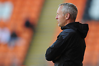 Blackpool manager Neil Critchley <br /> <br /> Photographer Kevin Barnes/CameraSport<br /> <br /> The EFL Sky Bet League One - Blackpool v Swindon Town - Saturday 19th September 2020 - Bloomfield Road - Blackpool<br /> <br /> World Copyright © 2020 CameraSport. All rights reserved. 43 Linden Ave. Countesthorpe. Leicester. England. LE8 5PG - Tel: +44 (0) 116 277 4147 - admin@camerasport.com - www.camerasport.com