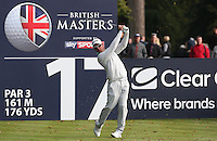 Jaco Van Zyl (RSA) in action during the Final Round of the British Masters 2015 supported by SkySports played on the Marquess Course at Woburn Golf Club, Little Brickhill, Milton Keynes, England.  11/10/2015. Picture: Golffile | David Lloyd<br /> <br /> All photos usage must carry mandatory copyright credit (© Golffile | David Lloyd)