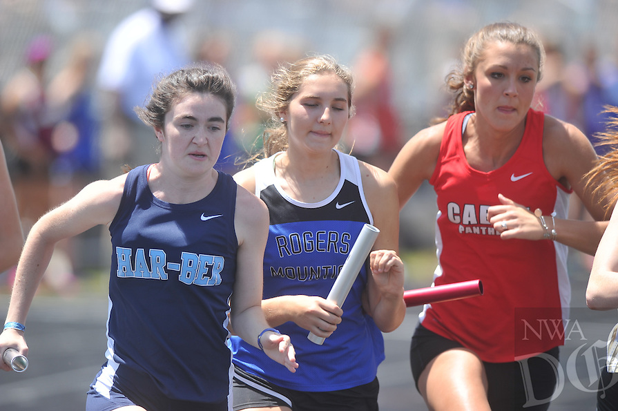 NWA Democrat-Gazette/Michael Woods --05/07/2015--w@NWAMICHAELW... Athletes compete Thursday at the 7A State Championship track and field meet in Fayetteville.
