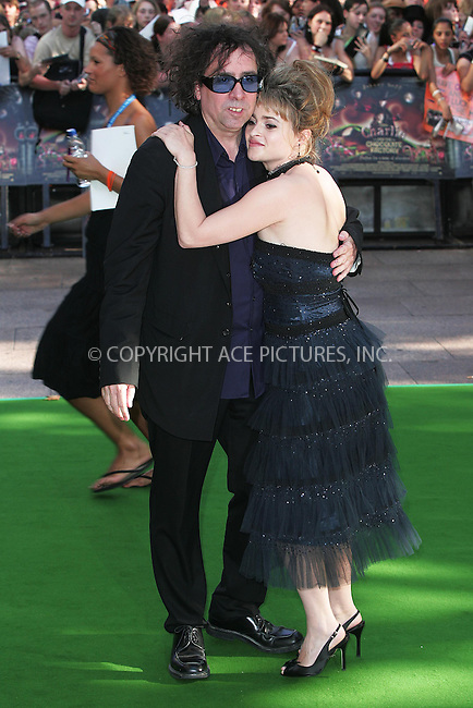 WWW.ACEPIXS.COM . . . . .  ... . . . . US SALES ONLY . . . . .....LONDON, JULY 17, 2005....Tim Burton and Helena Bonham Carter at the UK premiere of Charlie And The Chocolate Factory, Odeon Leicester Square.....Please byline: FAMOUS-ACE PICTURES-F. DUVAL... . . . .  ....Ace Pictures, Inc:  ..Craig Ashby (212) 243-8787..e-mail: picturedesk@acepixs.com..web: http://www.acepixs.com