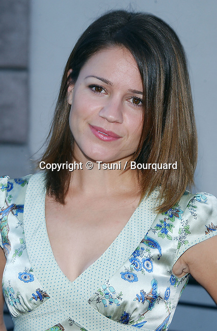 Anna Belknap (Medical Investigation) arriving at the NBC All-Star Party for the New Fall Season 2004 at the Universal Lot in Los Angeles. July 11, 2004.