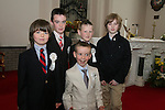 Todd Lynch. Adam Callanan, Eoin Reilly, Caleb Judge and Eoghan Collier at the First Holy Communion in Walshestown...Photo NEWSFILE/Jenny Matthews.(Photo credit should read Jenny Matthews/NEWSFILE)....This Picture has been sent you under the condtions enclosed by:.Newsfile Ltd..The Studio,.Millmount Abbey,.Drogheda,.Co Meath..Ireland..Tel: +353(0)41-9871240.Fax: +353(0)41-9871260.GSM: +353(0)86-2500958.email: pictures@newsfile.ie.www.newsfile.ie.FTP: 193.120.102.198.