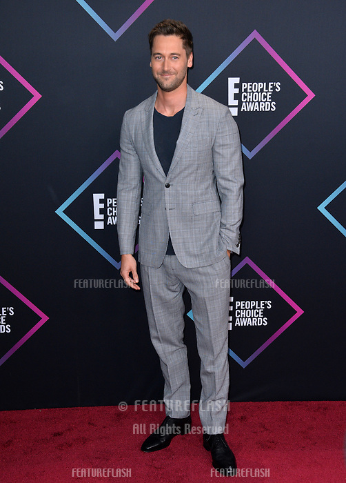 LOS ANGELES, CA. November 11, 2018: Ryan Eggold at the E! People's Choice Awards 2018 at Barker Hangar, Santa Monica Airport.<br /> Picture: Paul Smith/Featureflash