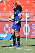 3rd February 2019, Spotless Stadium, Sydney, Australia; HSBC Sydney Rugby Sevens; England versus USA Mens semi final; Folau Niua of the United States of America waits to take the lineout