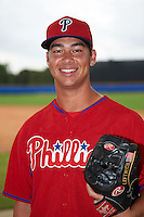Philadelphia Phillies pitcher Luke Leftwich (39) poses for a photo after an instructional league game against the Toronto Blue Jays on September 28, 2015 at Englebert Complex in Dunedin, Florida.  (Mike Janes/Four Seam Images)