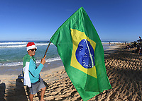 Brazil fan.<br /> 2017 Billabong Pipe Masters, Oahu, Hawaii, USA. World Surf League (WSL). Monday 18 December 2017. &copy; Copyright photo: Andrew Cornaga / www.photosport.nz