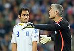 Antonios Nikopolidis and Christos Patsatzoglou at Euro 2008, RUS-GRE, 06142008, Salzburg, Austria