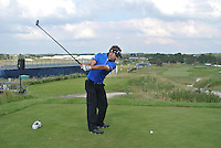 Jbe Kruger (RSA) on the 10th tee during Round 2 of the KLM Open at Kennemer Golf &amp; Country Club on Friday 12th September 2014.<br /> Picture:  Thos Caffrey / www.golffile.ie