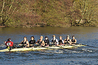 082 .TRC-Grey-Wilson .W.IM2.8+ .Thames RC. Wallingford Head of the River. Sunday 27 November 2011. 4250 metres upstream on the Thames from Moulsford railway bridge to Oxford Universitiy's Fleming Boathouse in Wallingford. Event run by Wallingford Rowing Club..