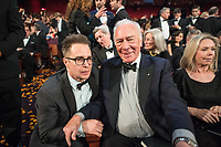 The Oscar&reg; winner for performance by an actor in a supporting role for work on &ldquo;Three Billboards Outside Ebbing, Missouri&rdquo;, Sam Rockwell poses with Oscar&reg; nominee Christopher Plummer during the live ABC Telecast of The 90th Oscars&reg; at the Dolby&reg; Theatre in Hollywood, CA on Sunday, March 4, 2018.<br /> *Editorial Use Only*<br /> CAP/PLF/AMPAS<br /> Supplied by Capital Pictures