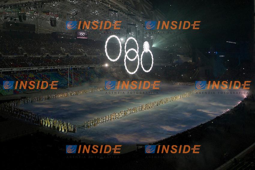 07.02.2014, Olympiastadion Fischt, Adlerer<br /> Cerimonia Inaugurale Apertura <br /> Sochi 2014 Olimpiadi Invernali. Olympic Winter Games <br /> Foto Urs Lindt/freshfocus/Insidefoto