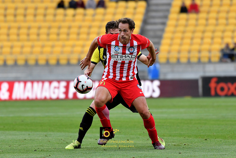 Melbourne City&rsquo;s Rostyn Griffiths in action during the A League - Wellington Phoenix v Melbourne City FC at Westpac Stadium, Wellington, New Zealand on Saturday 26 January 2019. <br /> Photo by Masanori Udagawa. <br /> www.photowellington.photoshelter.com