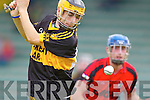 Kenmare in action against Chris Doncel Crokes in the County Intermediate Final at Austin Stack Park Tralee on Sunday.
