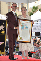 LOS ANGELES, CA. September 20, 2016: Mitch O'Farrell &amp; Kathy Bates at the Hollywood Walk of Fame star ceremony honoring actress Kathy Bates.<br /> Picture: Paul Smith / Featureflash